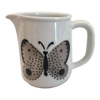 Vintage Arabia Finland Butterfly Pitcher