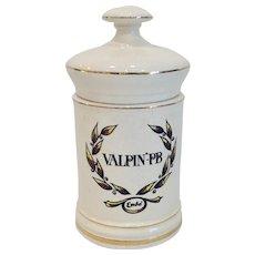 Vintage Valpin-PB Large Apothecary Jar