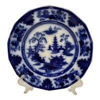 Antique Staffordshire Flow Blue Tonquin Plate W Adams