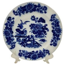Antique 1870s Ashworth Yedo Blue and White Staffordshire Plate