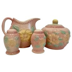 Vintage Hull Pottery Sunglow Kitchen Range Set
