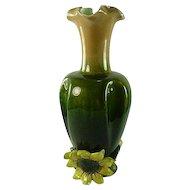 19th Century Johann Maresch Majolica Sunflower Vase