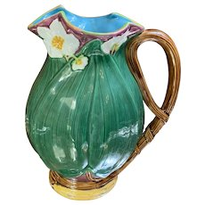 Large Mottahedeh Majolica Pitcher