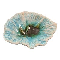 Antique Majolica Begonia Leaf Dish or Tray