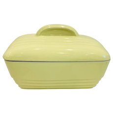 Hall China for Westinghouse Large Covered Art Deco Baking Dish