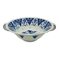 Hand Painted Oud Delft Double Handle Bowl