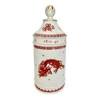 Vintage Vista Alegre Red Dragon Apothecary Jar