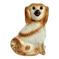 """Large 11"""" Antique Staffordshire Dog Glass Eyes"""
