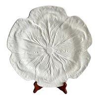Large Bordallo Pinheiro White Cabbage Leaf Platter