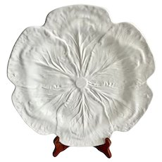 Large Bordallo Pinheiro White Cabbage Leaf Platter