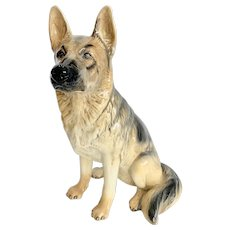 "Beswick England Large 14"" German Shepherd Alsatian Figure"