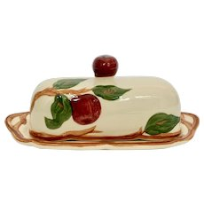 Franciscan Apple Butter Dish with Apple Finial