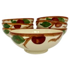 Set of 7 Franciscan Apple Footed Oatmeal Bowls