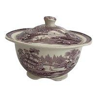 Royal Staffordshire Tonquin Plum Sugar Bowl with Lid