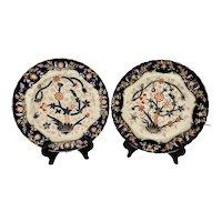 Pair Antique WT Copeland Imari Plates c 1847