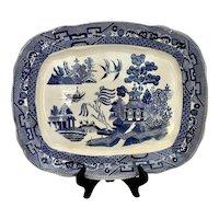 Antique Buffalo Pottery Blue Willow Platter