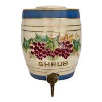 Antique 1800s English Pottery Shrub Pub Barrel Cask