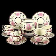 Old Castle Pink Copper Luster 25 Piece Dessert Set
