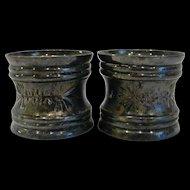 Pair Victorian Silverplate Napkin Rings