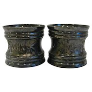 Pair Victorian Silverplate Napkin Rings