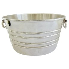 Large Mid Century Sheffield Silver Ice Bucket Reed & Barton