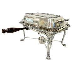 Elegant Poole Silver Old English Chafing Dish