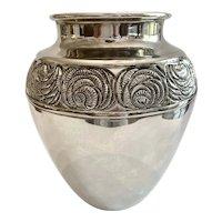 Vintage International Silver Urn Vase