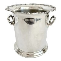 Antique Birmingham Silver Champagne or Wine Cooler