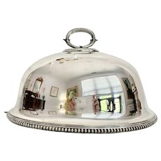 Dated 1861 Elkington & Mason Silver Meat Dome
