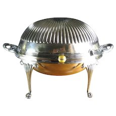 Antique Silverplate Revolving Server, Birmingham c 1910