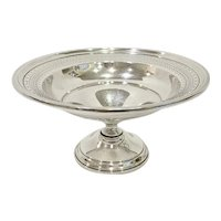 Webster Sterling Silver Pierced Rim Compote