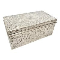 Superb Antique Black Starr & Frost Sterling Silver Box