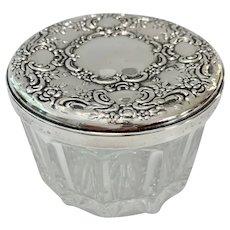 Beautiful Sterling Silver Lidded Powder Jar