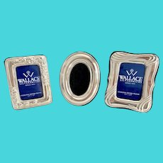 Set of 3 Wallace Sterling Silver Mini Photo Frames