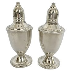 Pair Duchin Sterling Silver Salt & Pepper Shakers