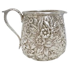 S Kirk & Son Coin Sterling Silver Repousse Creamer