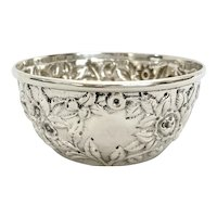 S Kirk & Son Coin Sterling Silver Repousse Bowl