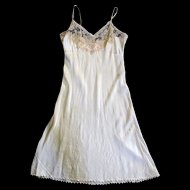 1939 Silk and Lace Custom Made Trousseau Slip