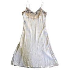 1939 Silk and Lace Custom Made Trousseau Slip