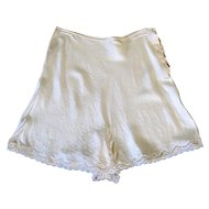 1939 Custom Made Silk and Lace Trousseau Tap Pants