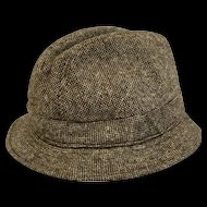 Men's Elgin Trilby Wool Tweed Hat Sz 7 1/2