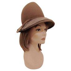 Vintage Lazarus Brown Felt Hat