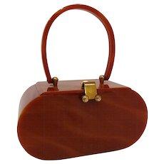 1950s Vintage Willardy Tortoise Lucite Purse Handbag