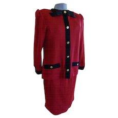 Vintage Mr. Mort 2 Piece Knit Suit Dress