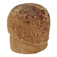 1920s Vintage Cork Cloche Hat Form Mold