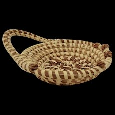 Charleston Sweetgrass Basket, Hand Made African American Folk Art