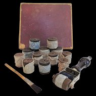 Antique French Embroidery Stamps Kit Louvre Paris