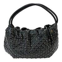 Sonia Rykiel Studded Black Leather Shoulder Handbag