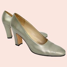 Pair Salvatore Ferragamo Leather Pumps
