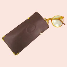 Cartier Bordeaux Leather Eyeglass Case